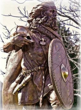 Estatua a Harald I en Noruega