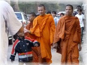 Monjes en Cambodia