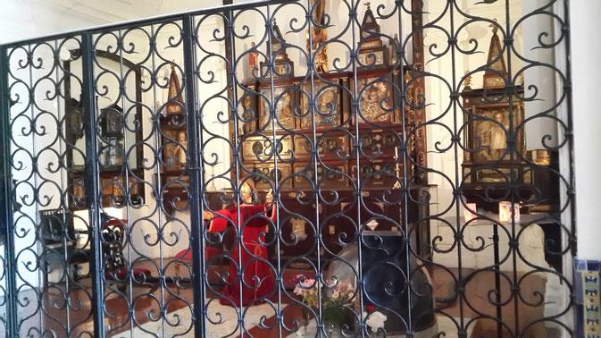 """""""Altar de las Reliquias"""" de la Iglesia Nuestra Señora del Pilar"""