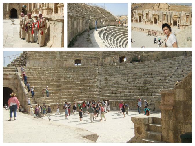 Imponente el Teatro Sur en Jerash, Jordania