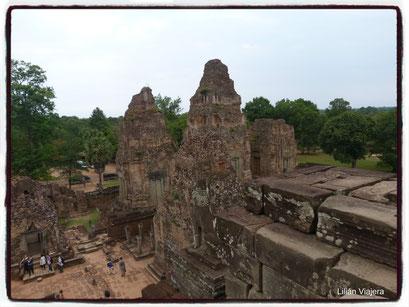 En la cima del Templo Pre Rup, Angkor.