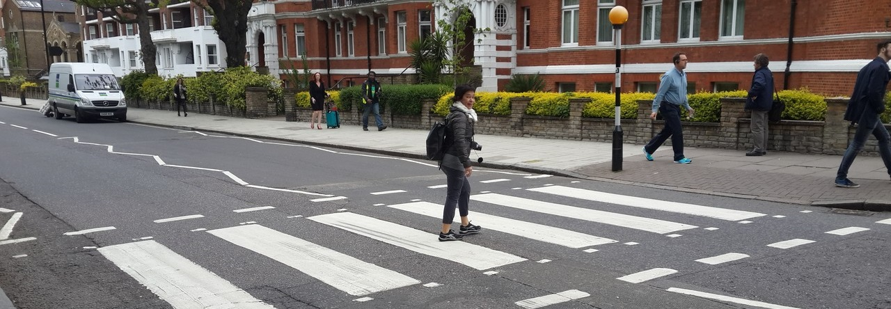 Lilián Viajera en Abbey Road