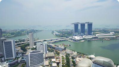 Vistas de la Marina Bay Sands, Singapur